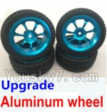 Wltoys K929-B-06-02 Parts-Upgrade Aluminum wheel(4pcs-Include the Tire leather)