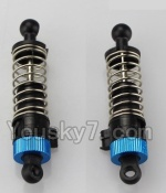 Wltoys K929-B-12-02 Parts-Official Rear Shock Absorber(2pcs)-Blue