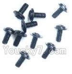 Wltoys K929-B-39 Parts-A949-43 Round with referral screws-M2.5X6X6(10PCS)
