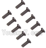 Wltoys K929-B-41-02 Parts-A949-47 Countersunk head self-tapping screws-M2X6(10PCS)
