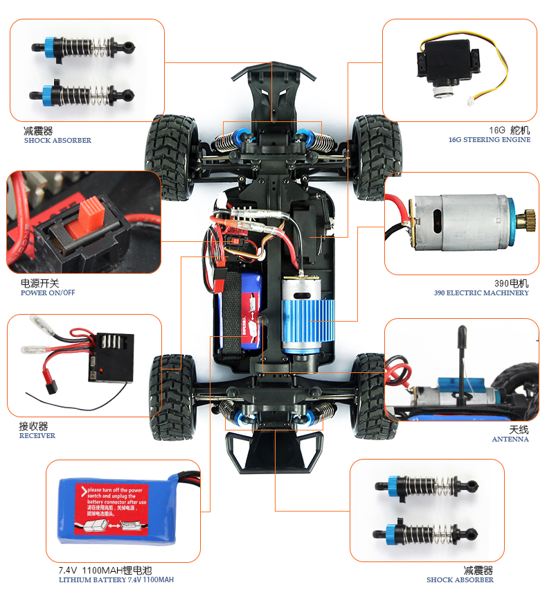 Team Energy T8x 1 8 Scale Brushless Powered Ready To Run Racing Buggy With Dimension