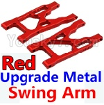 Wltoys K949 Parts-09-02 Upgrade Metal Swing Arm-Red-2pcs