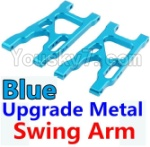 Wltoys K949 Parts-09-03 Upgrade Metal Swing Arm-Blue-2pcs
