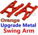 Wltoys K949 Parts-09-04 Upgrade Metal Swing Arm-Orange-2pcs
