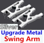 Wltoys K949 Parts-09-05 Upgrade Metal Swing Arm-Silver-2pcs