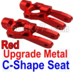 Wltoys K949 Parts-10-01 Upgrade Metal C-Shape Seat-Red-2pcs