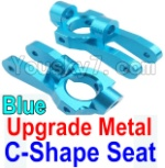Wltoys K949 Parts-10-02 Upgrade Metal C-Shape Seat-Blue-2pcs