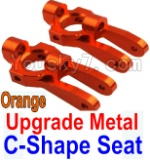Wltoys K949 Parts-10-03 Upgrade Metal C-Shape Seat-Orange-2pcs