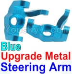 Wltoys K949 Parts-11-03 Upgrade Metal Steering arm-Blue-2pcs