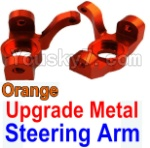 Wltoys K949 Parts-11-04 Upgrade Metal Steering arm-Orange-2pcs
