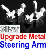 Wltoys K949 Parts-11-05 Upgrade Metal Steering arm-Silver-2pcs