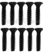 Wltoys K949 Parts-114 A929-63 Countersunk head inner hexagon Screws-M2.6X10-Black zinc plated(10PCS)