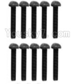 Wltoys K949 Parts-117 A929-75 Pan head inner hexagon Screws-M3X10-Black zinc plated(10PCS)