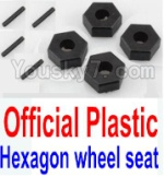 Wltoys K949 Parts-12-01 Official Plastic 12MM Hexagon wheel seat,Tire adapter(4pcs)