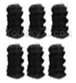 Wltoys K949 Parts-121 A929-90 Jimi screws-M4X4-Black zinc plated(6PCS)