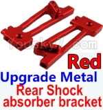 Wltoys K949 Parts-26-02 Upgrade Metal Rear Shock absorber bracket-Red-2pcs
