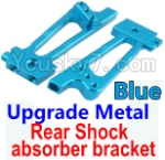 Wltoys K949 Parts-26-03 Upgrade Metal Rear Shock absorber bracket-Blue-2pcs