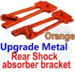 Wltoys K949 Parts-26-04 Upgrade Metal Rear Shock absorber bracket-Orange-2pcs