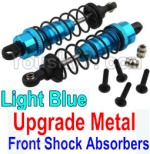 Wltoys K949 Parts-36-02 Upgrade Metal Front Shock Absorbers(2pcs)-Light Blue