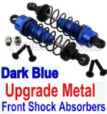 Wltoys K949 Parts-36-03 Upgrade Metal Front Shock Absorbers(2pcs)-Darke Blue