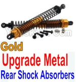 Wltoys K949 Parts-37-04 Upgrade Metal Rear Shock Absorbers(2pcs)-Gold