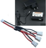 Wltoys K949 Parts-78-07 Upgrade 1-to-3 coversion Charging cable(1pcs) & Charger and Banlance charger