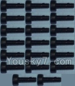 Wltoys K949 Parts-94 Cup head inner hexagon Screws M2X6-(20pcs)