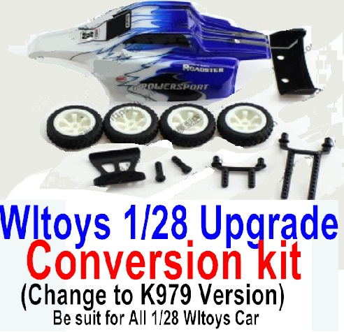 Wltoys K979 Upgrade Conversion kit-Blue
