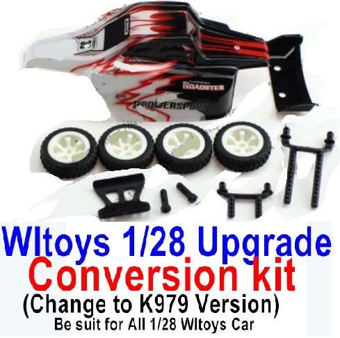 Wltoys K979 Upgrade Conversion kit-Red