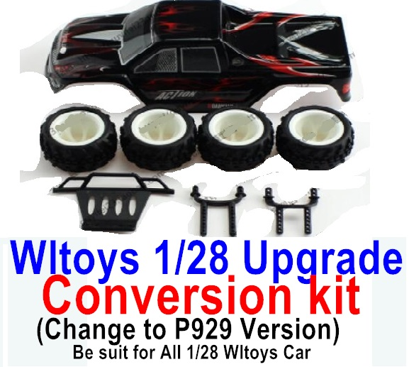 Wltoys P929 Upgrade Conversion kit-Black