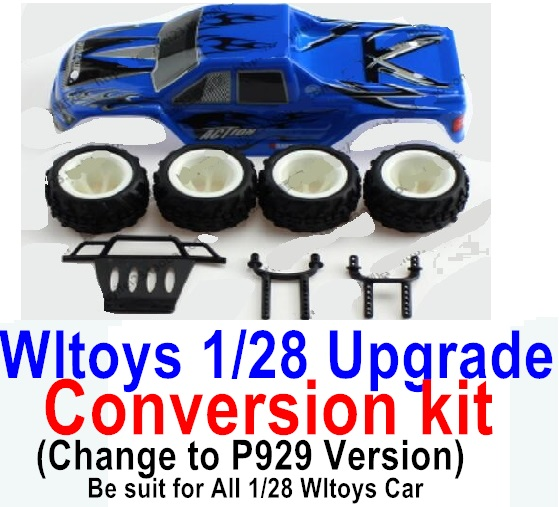 Wltoys P929 Upgrade Conversion kit-Blue
