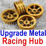 Wltoys K999 Spare Parts-61-01 Upgrade Metal Racing Hub(4pcs)(Can only match the Racing Tire lether)-Yellow