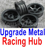 Wltoys P929 Spare Parts-61-02 Upgrade Metal Racing Hub(4pcs)(Can only match the Racing Tire lether)-Black