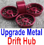 Wltoys P929 Spare Parts-61-04 Upgrade Metal Drift Hub(4pcs)(Can only match the Drift Tire lether)-Purple
