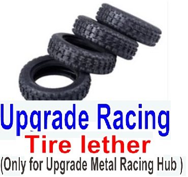 Wltoys P929 Spare Parts-62-01 Upgrade Racing Tire lether(4pcs)-Can only be used for Racing Hub