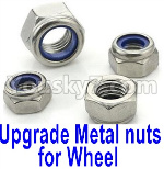 Wltoys K999 Spare Parts-63 Upgrade Metal nuts for wheel(4pcs0