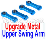 Wltoys K999 Spare Parts-65-06 Upgrade Metal Upper Swing Arm(4pcs)-Blue