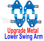Wltoys K999 Spare Parts-65-07 Upgrade Metal Lower Swing Arm(4pcs)-Blue