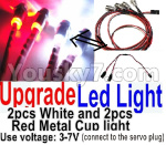 Wltoys P929 Spare Parts-66 Upgrade LED light unit(Total 4pcs Light-2 Red and 2 White-voltage 3-7V)