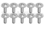 Wltoys K999 Spare Parts-70-05 K989-15 Screws(10pcs)-1.7X8PWA