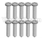 Wltoys P929 Spare Parts-70-06 K989-16 Screws(10pcs)-1.3X7PB