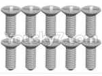 Wltoys K999 Spare Parts-70-10 K989-21 Screws(10pcs)-2X6KB