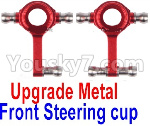 Wltoys K999 Spare Parts-71-01 Upgrade Metal Front Steering Cup(2pcs)-Red