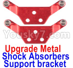 Wltoys K999 Spare Parts-71-03 Upgrade Metal Shock Absorbers Support bracket(2pcs)-Red