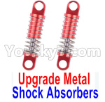 Wltoys K999 Spare Parts-71-04 Upgrade Metal Shock Absorbers(2pcs)-Red