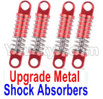 Wltoys K999 Spare Parts-71-05 Upgrade Metal Shock Absorbers(4pcs)-Red