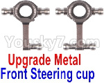 Wltoys K999 Spare Parts-72-01 Upgrade Metal Front Steering Cup(2pcs)-Gray