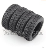 Wltoys K999 Parts-07 Rally tire-4pcs- (27.5X8.5mm)