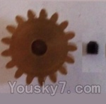 Wltoys L303 Spare Parts-57-01 17T Motor Gear(17 Teeth)-hole diameter 3.17mm,M-0.8
