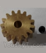 Wltoys L303 Spare Parts-57-02 P949-26 15T Motor Gear(15 Teeth)-hole diameter 3.17mm,M-0.8
